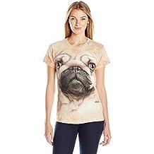 The Mountain Damen Pug Face Mops Hund T Shirt