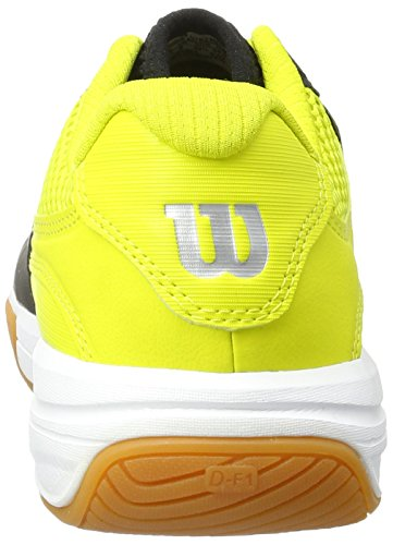 Wilson Recon, Chaussures de Tennis Mixte Adulte Noir (Black / Sulphur Spring / White)