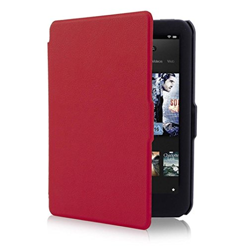 Preisvergleich Produktbild Hunpta Leder Slim Ultra Thin Painted Case Cover für Tolino Vision 4HD (Rot)