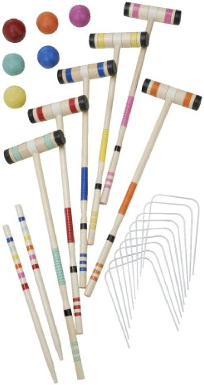 Halex Select 6 Player Croquet Set en Deluxe funda de transporte
