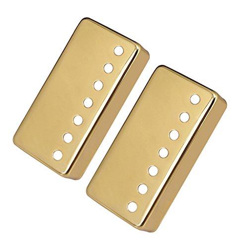 Homyl Hochwertige 7 String Saiten E-Gitarre Ersatzteile - Humbucker Pickup Cover aus Messing - 2er / Set - Golden