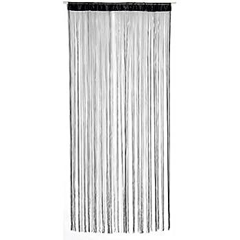 String Door Curtain Black 90 X 200 Cms Amazon Co Uk