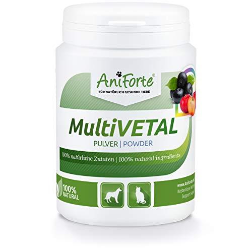 AniForte MultiVETAL Multivitamin Pulver für Hunde, Katzen 100g - Natürliche Multi-Vitamine und Nährstoffe für eine optimale Versorgung, Unterstützung der natürlichen Abwehrkräfte