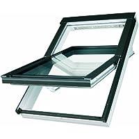 Dachfenster Fakro Schwingfenster 134x140cm Kunststoff mit Dauerlüftung V35 Standardverglasung U3 mit Ziegeleindeckrahmen