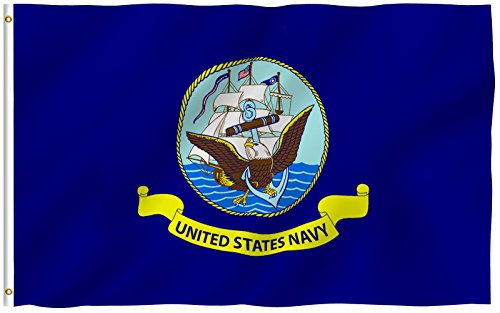 + US Flagge, US Navy, 3 X 5 Ft (Air Force Party Supplies)