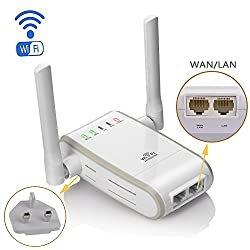 Dc Xingdongchi Wireless-n 300mbps Wifi Range Extender Routerrepeaterapwps Mini Dual External Antennas Wifi Booster Wireless Access Point With Rj45 Port (Wi-fi Booster)