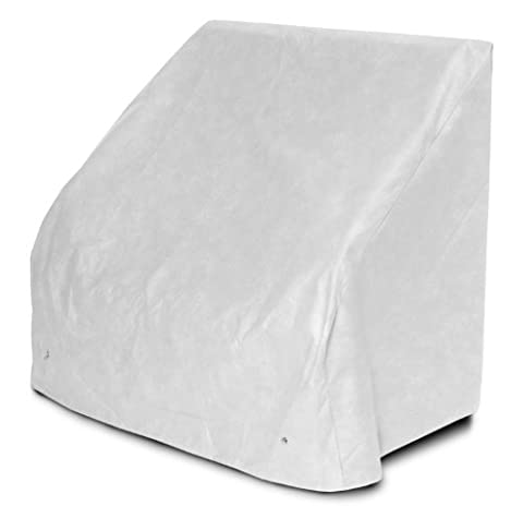 KoverRoos 24202 DuPont Tyvek 4 ft Bench-Glider Cover, White - 51 W x 26 D (Outdoor Glider Cuscini)