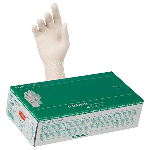 Untersuchungshandschuhe Einmalhandschuhe aus Latex Gr. L/8-9 puderfrei 100 Stk