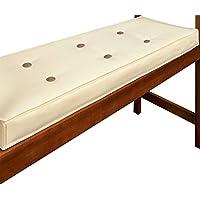 Deuba Garden Bench Cushion 2 Seater 110 x 45 cm Pad Cover Detex Water Repellent Ties 100% Polyester Beige