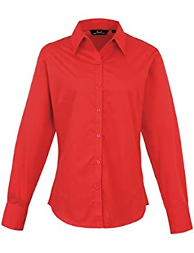 Premier Women 's formal Poplin Long Sleeve Camiseta