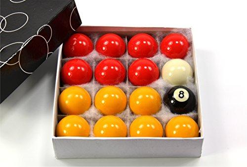 44 mm economía de tamaño medio rojo y amarillo - juego de bolas 4,45 cm (44 mm)