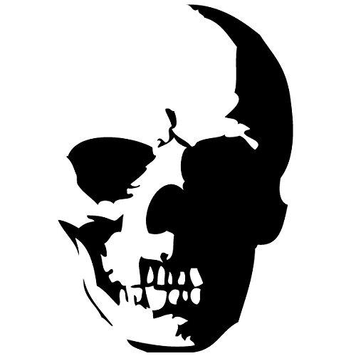 Wadeco Totenkopf Skull 2 Wandtattoo Wandsticker Wandaufkleber 35 Farben verschiedene Größen, 27cm x 40cm, schwarz