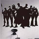 ykxykw Sticker Mural DC Comics Vinyle Autocollant Vinyle Autocollant Mural décoration de la Maison 58 * 86 cm