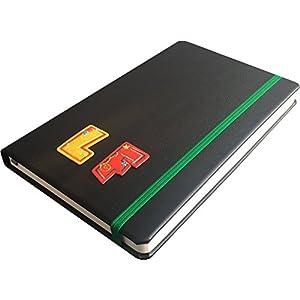 Echt-Leder Notizbuch A5 personalisierbar mit