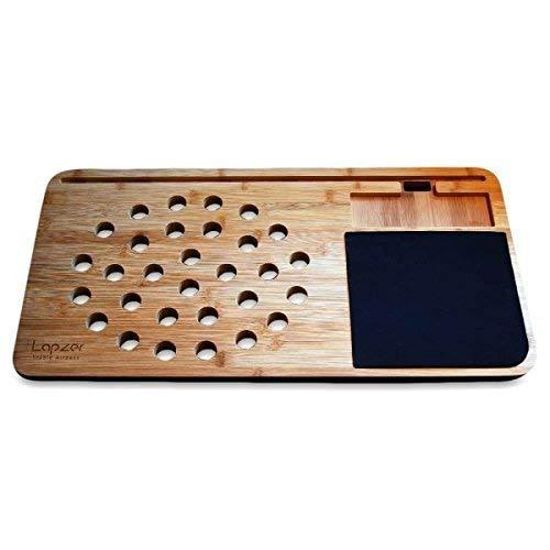 Pfiffig-Wohnen Lapzer Laptop Unterlage Schreibtisch Zubehör Laptopständer, Bambus, 60 x 31 x 2,5 cm