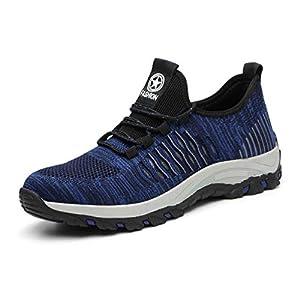 41znH6YHcmL. SS300  - AFFINEST Hombre Zapatos de Seguridad Hembra Zapatillas de Trabajo S1 con Puntera de Acero Calzado Antideslizante Transpirables Industriales Zapatos