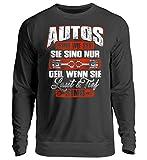 Shirt-o-Topia DE Autos sind wie Sex. Sie sind nur geil, wenn sie LAUT und Tief sind KfZ Mechaniker Geschenk - Unisex Pullover -L-Jet Schwarz