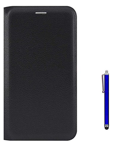 RRTBZ PU Leather Flip Cover Case for Samsung Galaxy On7 Prime with Stylus -Black