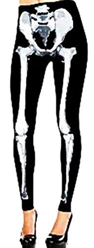 erdbeerloft - Damen Strumpfhose Leggings Skelett, S-L, ()