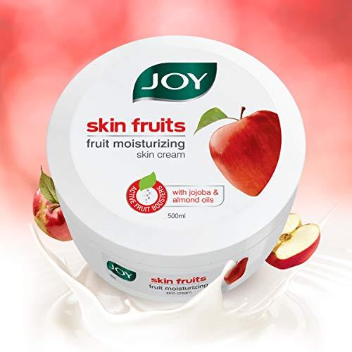 Joy Skin Fruits Fruit Moisturizing Skin Cream With Jojoba and Almond Oil, 500ml, For All Skin Type, Ideal For Men & Women