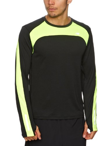 Balance MRT1323 Men's Long Sleeve T-Shirt - Black/Yellow, X-Large