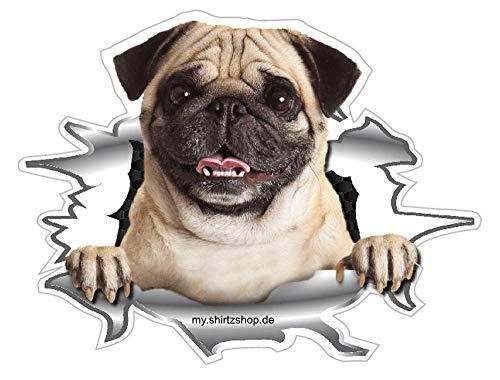 Mein Bester Freund an Bord-Mops Hunde Auto-Vinyl-Aufkleber Sticker Decal (Aufkleber Hundefutter)