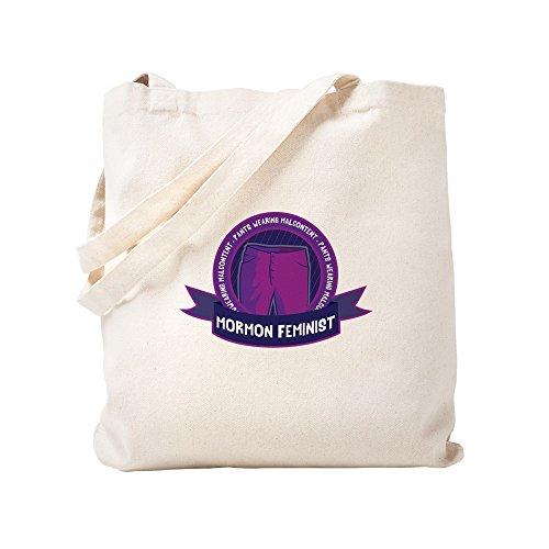 CafePress-pants-wearing mormón feminista-Gamuza de bolsa de lona bolsa, bolsa de la compra Small caqui