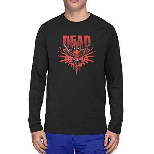 Taco Kostüm Mann (Planet Nerd - Dead Logo - Herren Langarm T-Shirt, Größe S,)