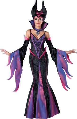 InCharacter Costumes Women's Dark Sorceress, Purple/Black, Small