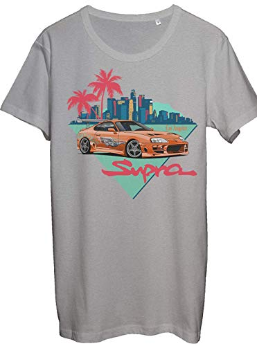 Legendary JDM Heros Orange Toyota Supra Men\'s Fan Artwork T-Shirt - 100{d55117a7ff5a14851ddb3beedc9531be62c285a5e93b93864af8739688409960} Ring Spun Cotton - Soft and Comfortable - DTG Printed