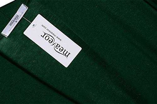 Meaneor Damen Strickjacke Maxi Offene Cardigan Mantel Strickmantel Lange Ärmel Langshirt Asymmetrisch Grün