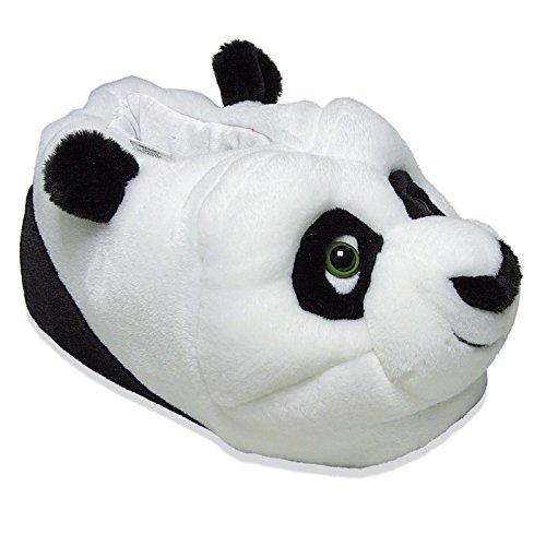 Tierhausschuhe Kinder Plüsch Hausschuhe Disney Kung Fu Panda Po Original Pantoffel Puschen Anti Rutsch Schuhe, TH-KFPM Schwarz
