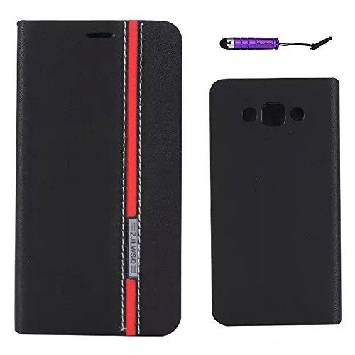 cc65375a45a Samsung Galaxy E7 Funda, TOTOOSE para Samsung Galaxy E7 PU Cuero Caso con  Flip Stand