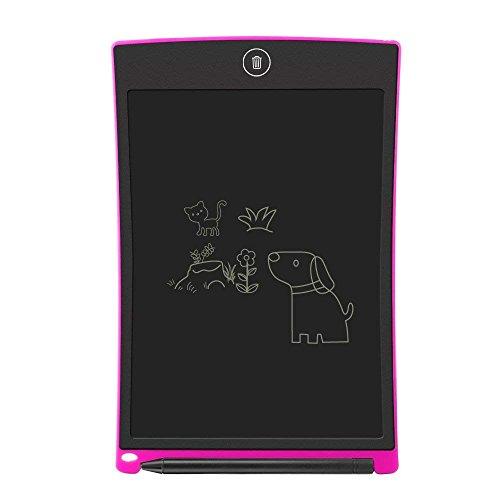 Jaylaka LCD Writing Tablet,8.5-ZollLCD Grafiktablet/Schreiben Tablet/Elektronischer Notizblock mit Stift Umweltfreundlich für Schreiben und Malen (Pink)