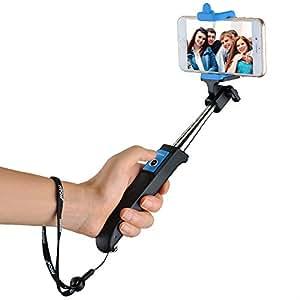 Selfie Stick, Mpow allungabile monopiede Bluetooth selfie stick con telecomando integrato senza fili per iPhone 6s/7s, 6S Plus, 6, 6Plus, 5S 5C 54S, LG G2, Samsung, Huawei e altri cellulari Android, blu