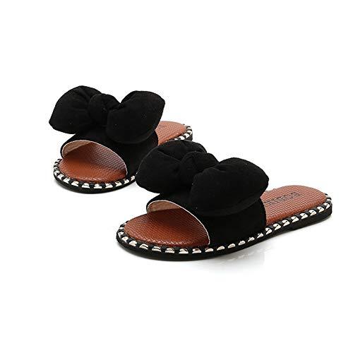 Kinder Sommer Hausschuhe mädchen Farbe niete Schleife Kinder Schuhe nach Hause Baby Sandalen und Hausschuhe im freien Hausschuhe