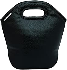 Marine Pearl Perky Synthetic Thermal Spill Proof Lunch Bag for Multipurpose Use, 240g (Black)