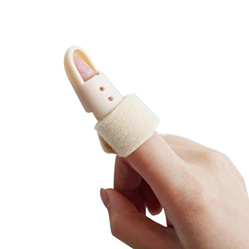 GxNI Finger Splintgelenk - Unterstützung Advance High Performance Finger Splint Schutz Fraktur Schmerzen Fingerverletzung Schmerzen Support Einstellbare Joint , 1 (Einstellbare Finger-joint)
