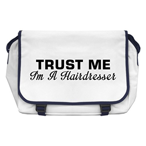 Price comparison product image Trust Me I'm A Hairdresser Messenger Bag - White