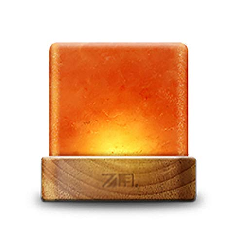 Nachtlichter Himalaya-Kristallsalzlampe Warmes romantischen Schlafzimmers Dimmbare Tischleuchte Home Mode-Accessoires Spezial- & Stimmungsbeleuchtung (Color : Orange, Size : 12 * 12cm)