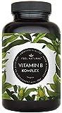 Vitamin B Komplex Kapseln. Besonders hochdosiert (10x). 180 vegane Kapseln im 6 Monatsvorrat. Mit bio-aktiven Vitamin B-Formen. Ohne Zusätze. Hergestellt...
