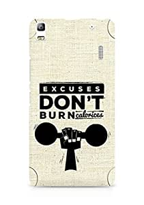 Amez Excuses don't burn Calories Back Cover For Lenovo K3 Note