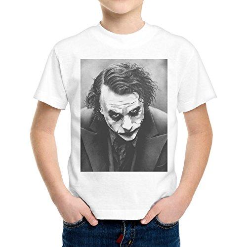 T-Shirt Bambino Ragazzo Joker Face Faccia Batman -