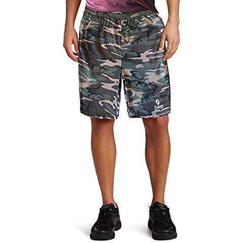 Uomo Camuffare Cotone Pantaloncini Per Pallacanestro Gli Sport Palestra Allenarsi In Esecuzione - Camuffare - Medium