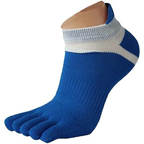 Ularma Moda 1 par menmesh meias Sports corriendo cinco dedos calcetines del dedo del pie