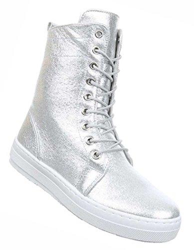 Damen Schnürer Silber 41 Schwarz Braun Stiefel 39 40 Gold Schuhe 36 Boots 38 37 Stiefeletten wEqnrZWwR
