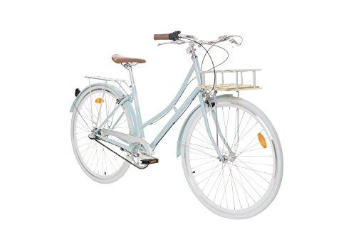 Fabric Cityrad - Hollandrad Damen Fahrrad mit KORB, Shimano inter 3-Gang, 5 Farben, 14 Kg (Blue Hampstead Deluxe, 45)