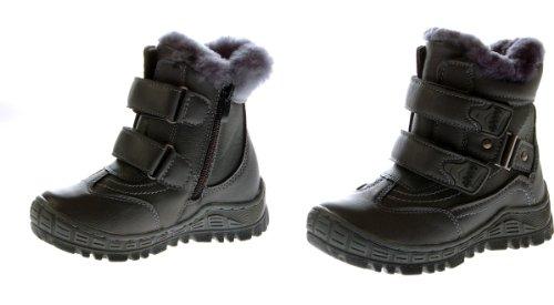 Kinder Stiefel Winter Schuhe gefüttert Schwarz Braun Grau Boots Grau