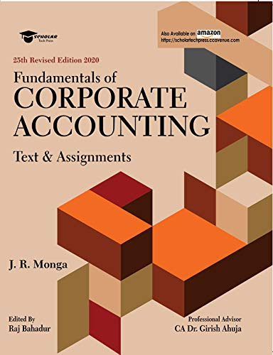 Fundamentals of Corporate Accounting : Text and Assignments