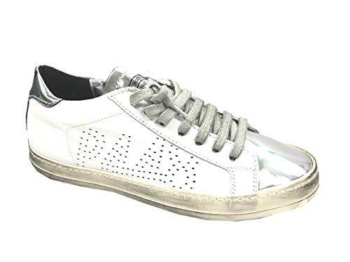 P448 Sneaker | A6 John - weiß | silber Weiß